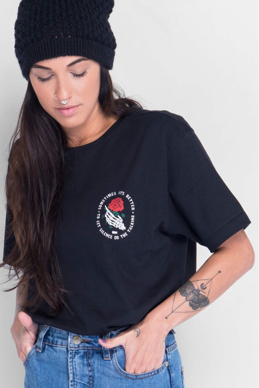Camiseta-Silent-Rose