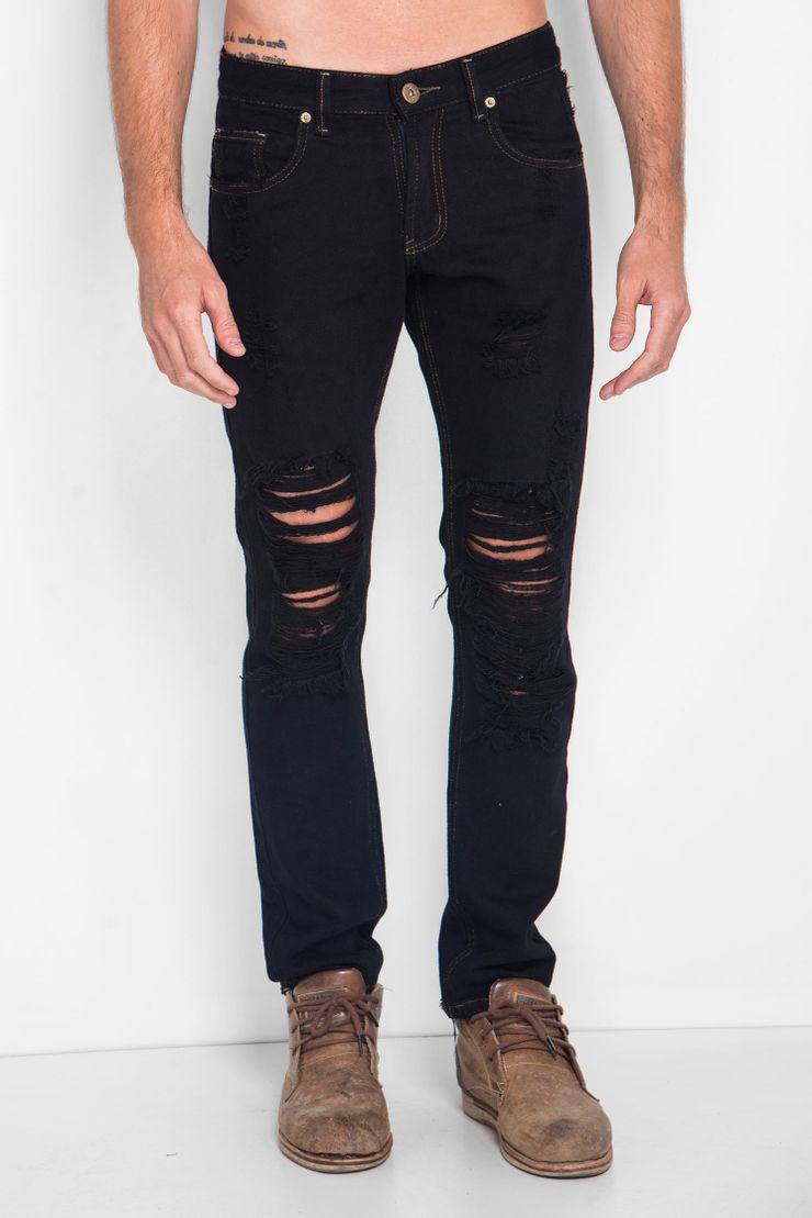 Calca-Jeans-Black-Destroeyd