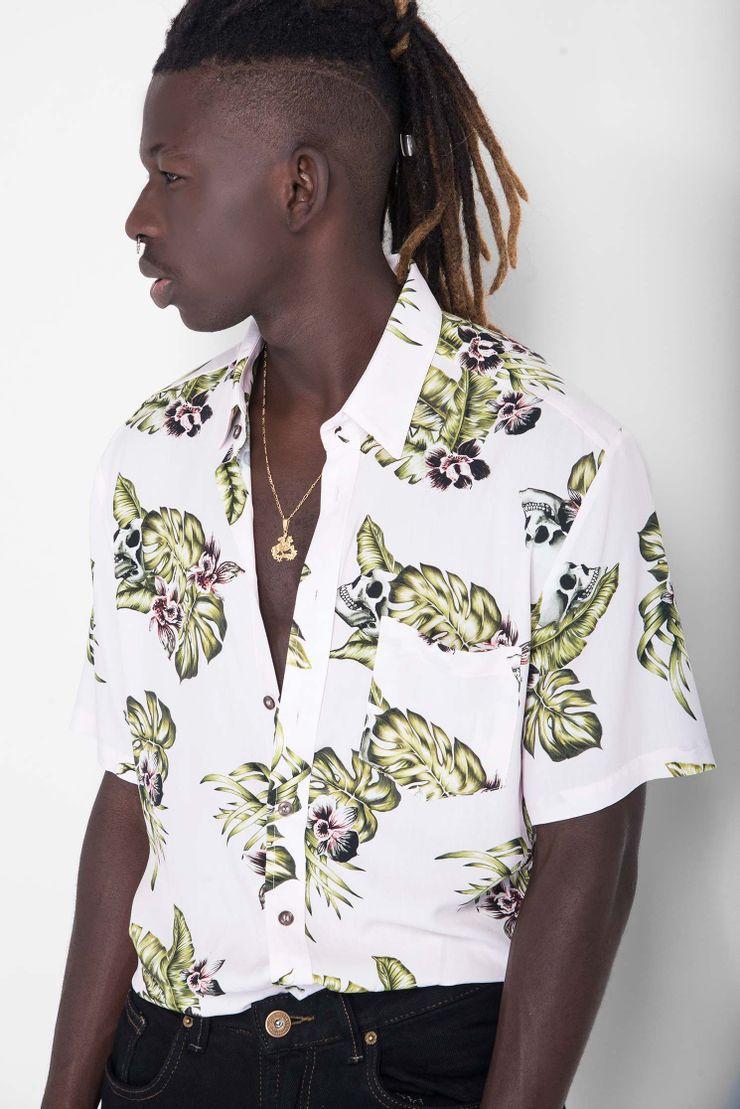 Camisa-Skull-Flowers