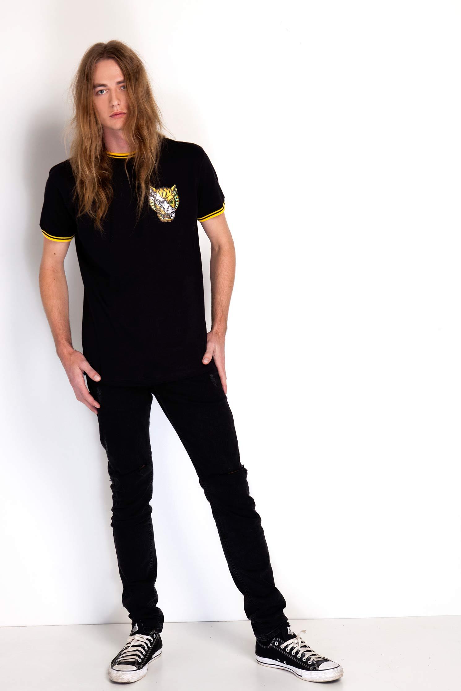 Camiseta College Tiger Black - bawclothing 81b20271b5acd