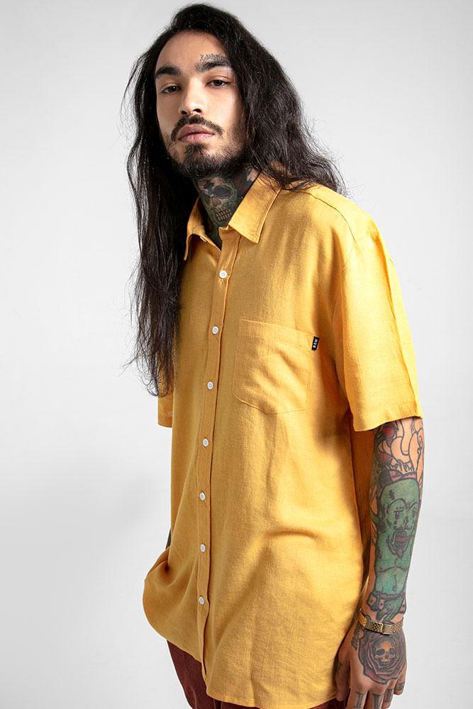 camisa-linen-mustard
