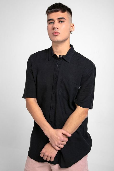 camisa-linen-black